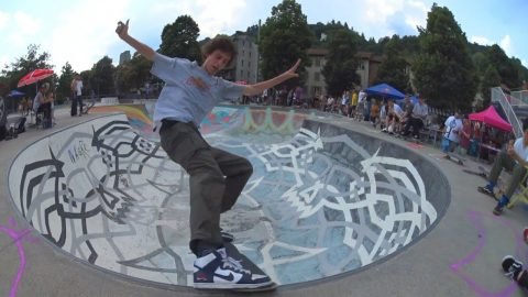 Best Trick Bowl poor @the joker cup 2018 at the Lugano Skatepark. - Poor skateboarding Channel