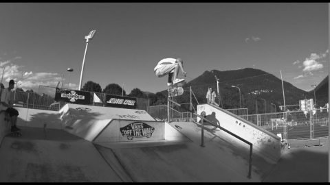 Black & white poorskateboarding Lugano - Alessio D'Ambrosio - Poor skateboarding Channel