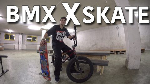 BMX DUDE TRIES TO SKATEBOARD! - Jonny Giger