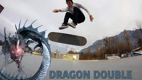 DRAGON DOUBLE FLIP! (CLEAN!!) - Jonny Giger