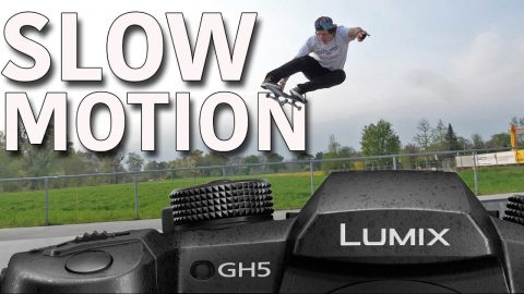 GH5 SKATE SLOW MOTION TEST 180 FPS - Jonny Giger