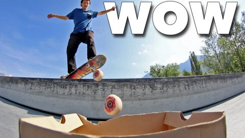 INCREDIBLE SKATE WHEEL TRICK SHOTS! - Jonny Giger