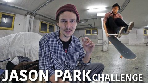 JASON PARK CHALLENGED ME TO LAND A LATE LASER FLIP - Jonny Giger