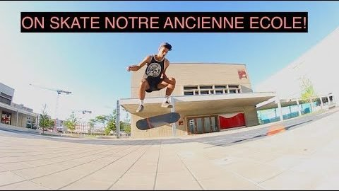 ON SKATE NOTRE ANCIENNE ECOLE! - Art Videos