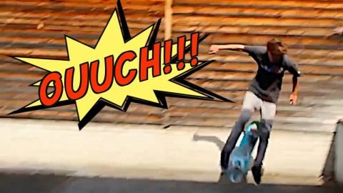 SKATER BREAKS BOARD WITH HIS TESTICLES?! - Jonny Giger