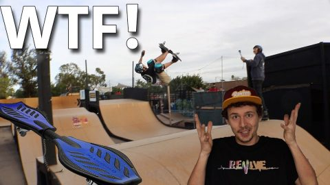 WORLDS FIRST BACKFLIP ON A RIPSTIK?! - Jonny Giger