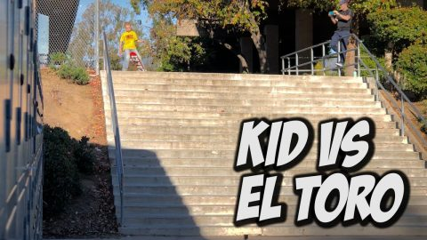 10 YEAR OLD VS EL TORRO 20 STAIR RAIL Feat. Kristion Jordan - NKA VIDS - | Nka Vids Skateboarding