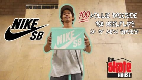 100 NOLLIE BS HEELFLIPS IN MY NEW SHOES!! - Vinh Banh