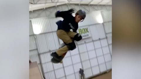 11 Year Old Does First 1080 on Vert! | The Berrics
