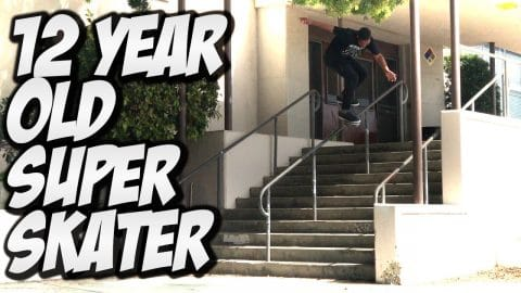 12 YEAR OLD SUPER SKATER !!! Feat. CORDANO RUSSELL - A DAY WITH NKA - - Nka Vids Skateboarding