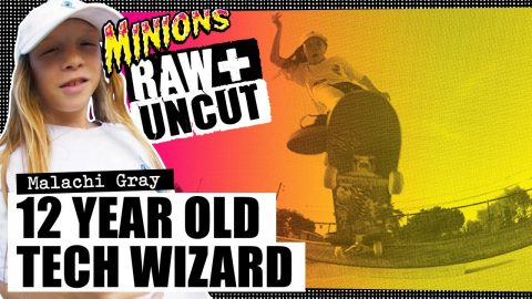 12 Year Old Tech Wizard! Malachi Gray: SC Minions RAW & UNCUT | Santa Cruz Skateboards | Santa Cruz Skateboards