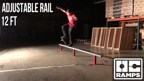 12ft long adjustable round rail by OC Ramps - OC Ramps