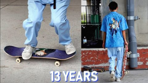 13 YEARS TO LEARN HEELFLIPS CORRECTLY | Luis Mora