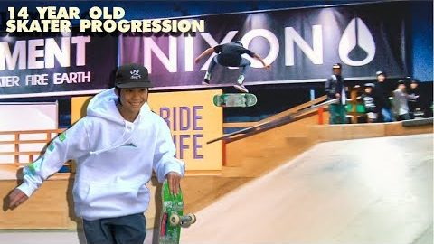 14 YEAR OLD SKATER PROGRESSION | Luis Mora