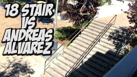18 STAIR VS ANDREAS ALVEREZ & MUCH MORE !!! - NKA VIDS - | Nka Vids Skateboarding