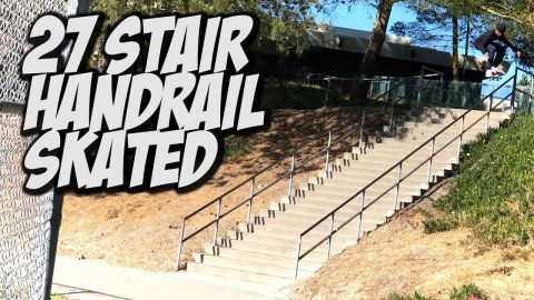 27 STAIR RAIL SKATED BY 17 YEAR OLD MALIQUE SIMPSON !!! - NKA VIDS - | Nka Vids Skateboarding