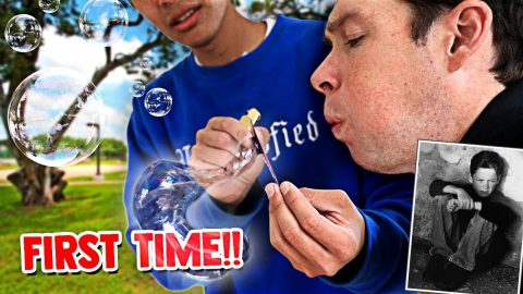 28 YEAR OLD BLOWS HIS FIRST BUBBLE | Chris Chann