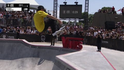 2nd Place - Cory Juneau (USA) 88.50 | Montreal, CAN | 2019 Men's Pro Tour | Vans Park Series | Park Series