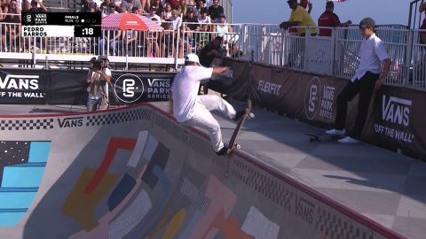 2nd Place - Pedro Barros (BRA) 87.50 | Huntington Beach, USA | 2018 Men's Vans Park Series | Park Series