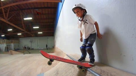 3 YEAR OLD SKATEBOARDER! - Braille Skateboarding