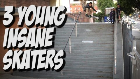 3 YOUNG KIDS INSANE SKATEBOARDERS !!! - A DAY WITH NKA -