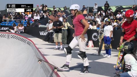 3rd Place - Jordyn Barratt (USA) 84.33 | Suzhou, CHI | 2018 Women's Vans Park Series Pro Finals | Park Series