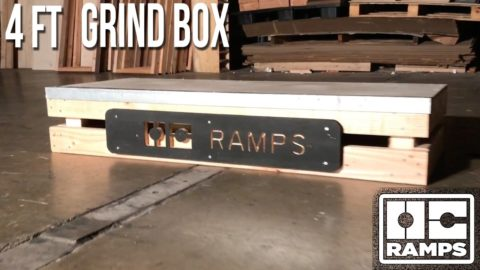 4 ft Grind Box by OC Ramps - OC Ramps