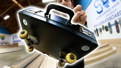 40 YEAR OLD BRIEFCASE SKATEBOARD | YOU MAKE IT WE SKATE IT Ep - Braille Skateboarding