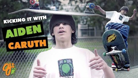 42mm Wheels, Crusty Parks, and 80s Shapes   Kicking It With: Aiden Caruth   OJ Wheels   OJ Wheels