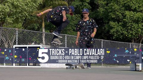 5 Tricks - Pablo Cavalari na quadra do C-Vida - QixTV