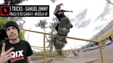 5 Tricks - Samuel Jimmy no corrimão do Guará II - Brasília-DF - QixTV