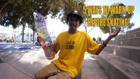 5 WAYS TO WARM UP BEFORE SKATING! - Vinh Banh