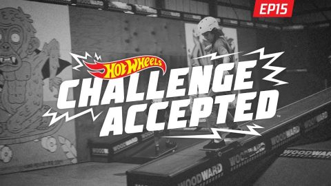 50-50 The Flat-Down Ledge - Hot Wheels Challenge Accepted | Woodward Camp