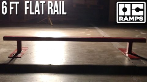 6 ft Flat Skate Rail by OC Ramps - OC Ramps