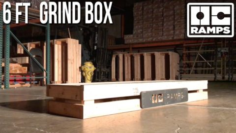 6 ft Skateboard Grind Box by OC Ramps - OC Ramps