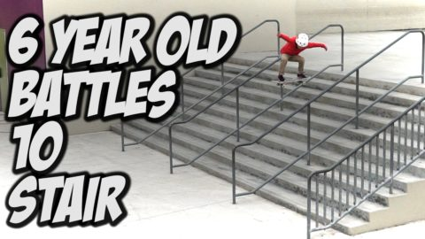 6 YEAR OLD JR GUTIERREZ V.S. 10 STAIR !!! - A DAY WITH NKA - - Nka Vids Skateboarding