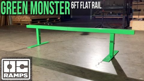 6ft long Green Machine Rail | OC Ramps