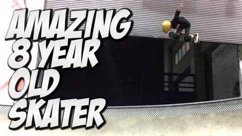 8 YEAR OLD KRISTION JORDAN !!! - A DAY WITH NKA - - Nka Vids Skateboarding
