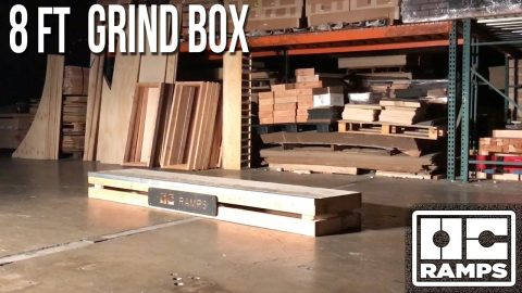 8ft long Grind Box by OC Ramps - OC Ramps