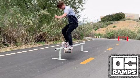 8ft Round Rail and Skate Cones - In the Streets | OC Ramps