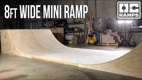 8ft wide Mini Ramp Halfpipe Skateboarding by OC Ramps - OC Ramps