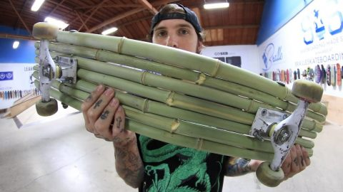 A BAMBOO SKATEBOARD?!?!?! | YOU MAKE IT WE SKATE IT EP. 201 - Braille Skateboarding