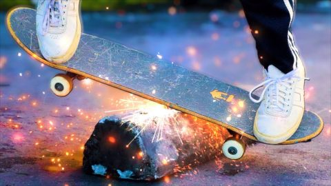 A SKATEBOARD THAT SPARKS?! | Braille Skateboarding