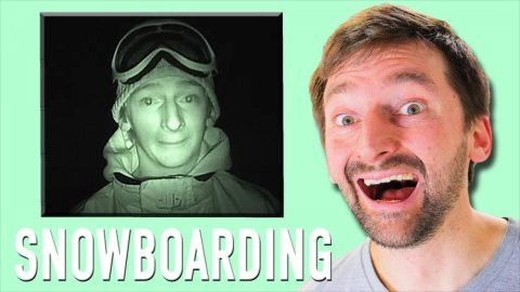 AARON KYRO REACTS TO HIS OLD SNOWBOARDING! | Braille Skateboarding