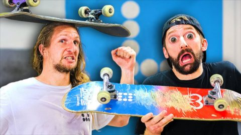 AARON KYRO vs RICKY GLASER! EVERYTHING COUNTS S.K.A.T.E. | Braille Skateboarding