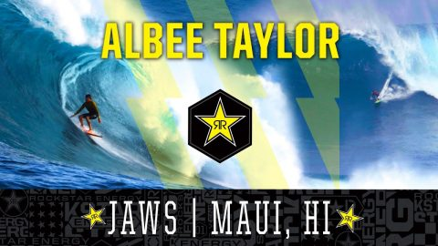 Albee Layer Surfing Jaws | Maui, HI | Rockstar Energy