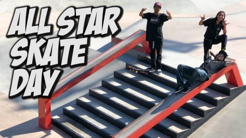 ALL STAR SESSION VINNIE, VERONICA, PETER & ANDY !!! - NKA VIDS - | Nka Vids Skateboarding