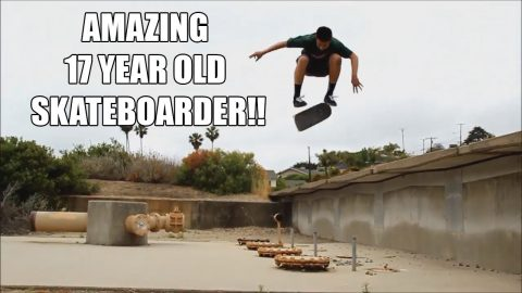 AMAZING 17 YEAR OLD SKATEBOARDER!!! - Vinh Banh