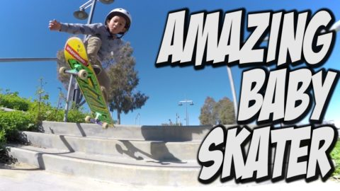 AMAZING 3 YEAR OLD SKATEBOARDER ZACHARIAH SANCHEZ !!!! - Nka Vids Skateboarding