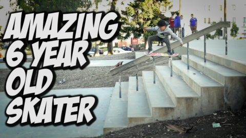 AMAZING 6 YEAR OLD SKATER & MORE !!! VLOG - A DAY WITH NKA